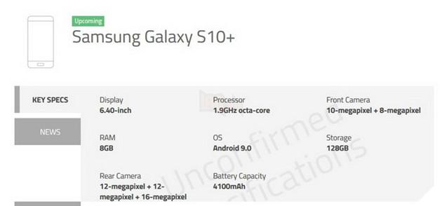 Chi tiết giá và chỉ số cần biết cho 3 phiên bản Samsung Galaxy S10, S10+ và S10e 4
