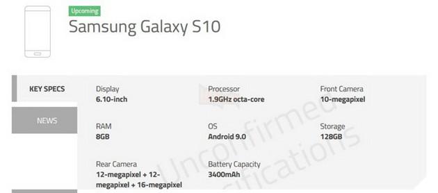 Chi tiết giá và chỉ số cần biết cho 3 phiên bản Samsung Galaxy S10, S10+ và S10e 3