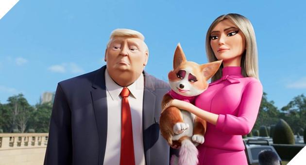 Tổng thống Donald Trump phiên bản hoạt hình gây ấn tượng cùng 'Những chú chó hoàng gia' 2