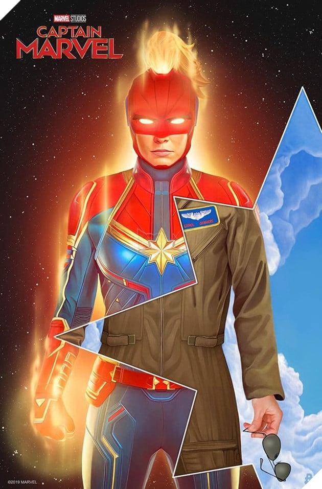 Tổng hợp 10 poster Captain Marvel đẹp nhất được thiết kế bởi người hâm mộ 11
