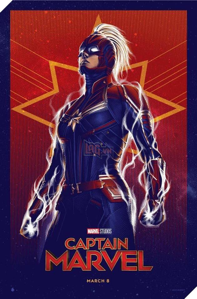 Tổng hợp 10 poster Captain Marvel đẹp nhất được thiết kế bởi người hâm mộ 3