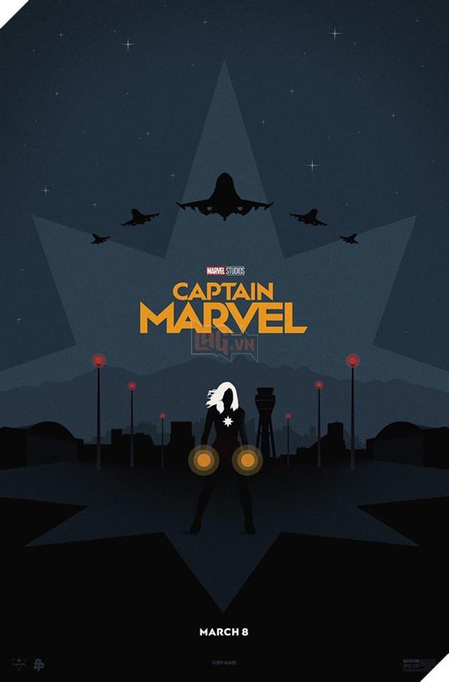 Tổng hợp 10 poster Captain Marvel đẹp nhất được thiết kế bởi người hâm mộ 4