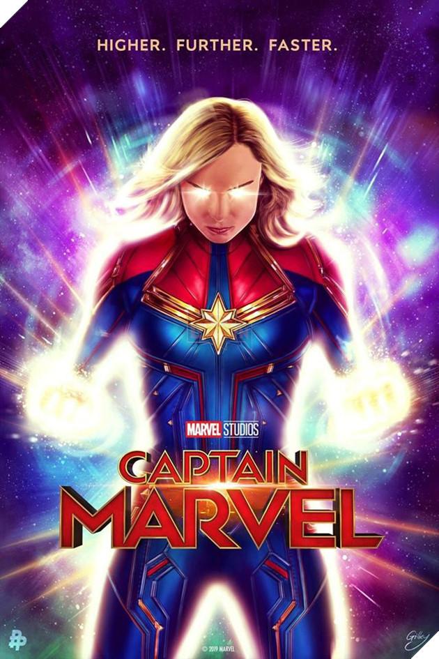 Tổng hợp 10 poster Captain Marvel đẹp nhất được thiết kế bởi người hâm mộ 5