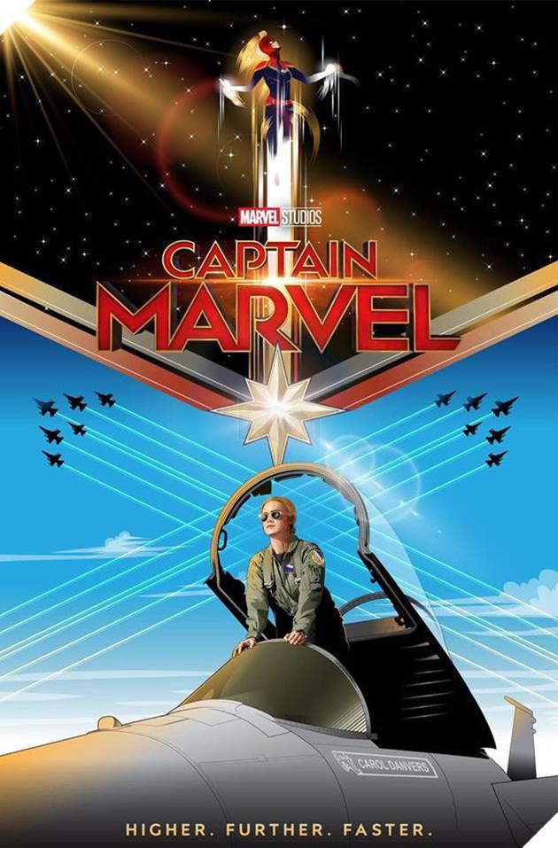 Tổng hợp 10 poster Captain Marvel đẹp nhất được thiết kế bởi người hâm mộ 6