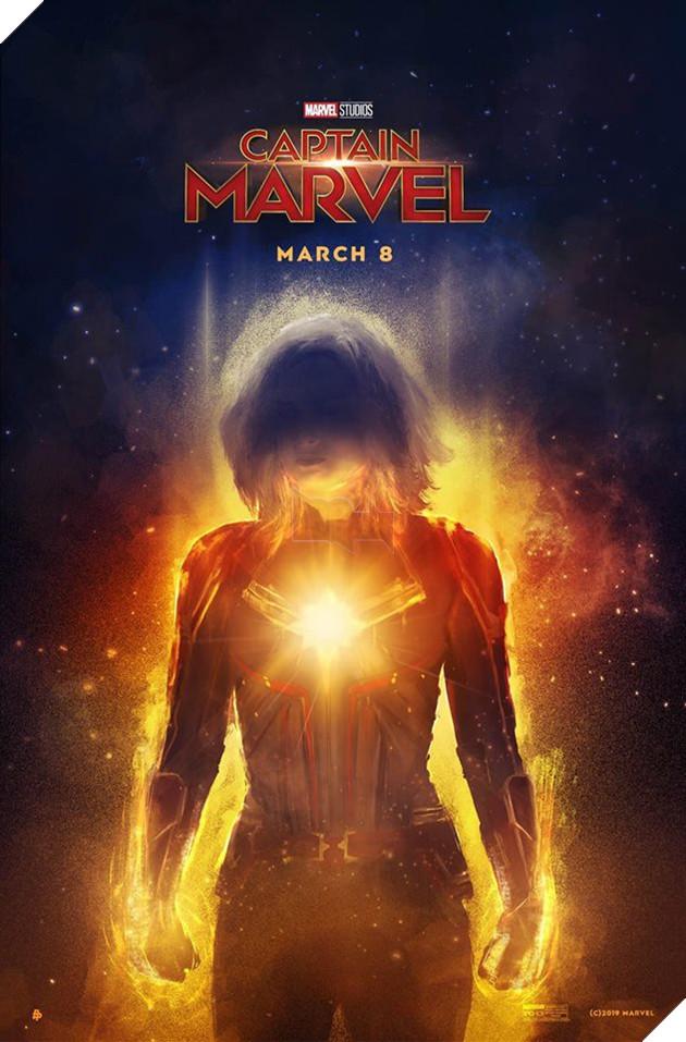 Tổng hợp 10 poster Captain Marvel đẹp nhất được thiết kế bởi người hâm mộ 7