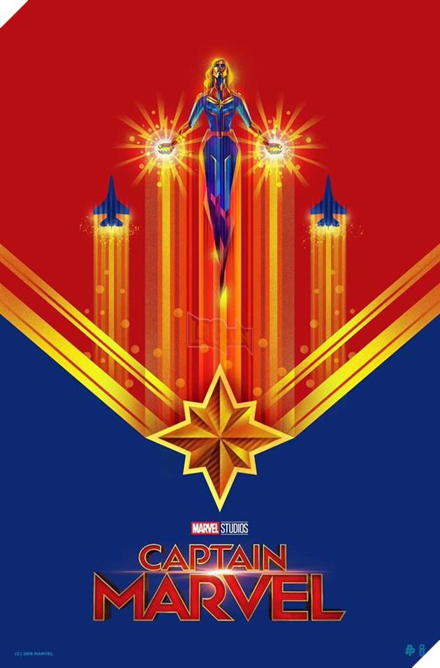 Tổng hợp 10 poster Captain Marvel đẹp nhất được thiết kế bởi người hâm mộ 8