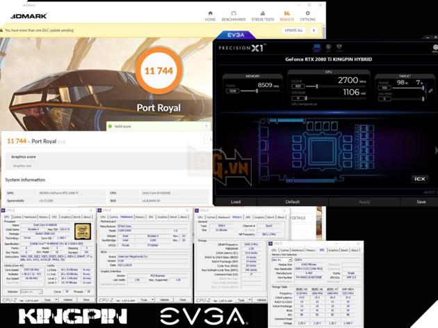 EVGA GeForce RTX 2080 Ti KINGPIN Hybrid - Quái vật đồ họa với chỉ số ép xung đạt kỷ lục 4
