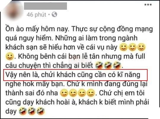 Nữ nhân viên khách sạn Hà Nội gây chú ý khi nói chửi khách cũng cần có kỹ năng, muốn đấm vào mặt Khoa Pug