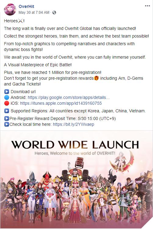Overhit mở phiên bản quốc tế nhưng lại cấm Việt Nam vào chơi 2