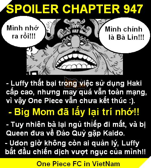 Spoilers One Piece Chap 947: Big Mom lấy lại trí nhớ, Luffy luyện xong chiêu mới