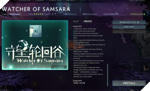 Watcher of Samsara - Hướng dẫn cách chơi Custom Map thủ trụ hot nhất hiện nay 4