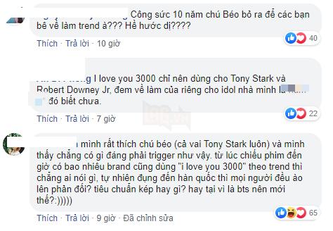 Câu nói kinh điển I love you 3000 của Tony Stark gây tranh cãi khi bất ngờ được trending cho người khác - Ảnh 2.
