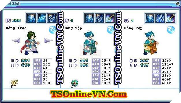 TS Online Mobile: Tổng hợp tất cả Pet Hệ Thủy chuyển sinh 1 và 2 đầy đủ nhất 66