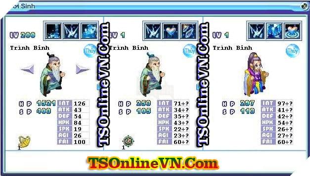 TS Online Mobile: Tổng hợp tất cả Pet Hệ Thủy chuyển sinh 1 và 2 đầy đủ nhất 85