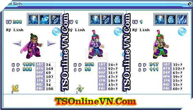 TS Online Mobile: Tổng hợp tất cả Pet Hệ Thủy chuyển sinh 1 và 2 đầy đủ nhất 35