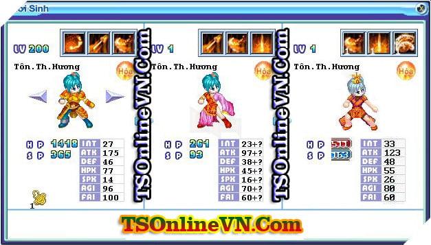 TS Online Mobile: Tổng hợp tất cả Pet Hỏa chuyển sinh 1 và 2 đầy đủ nhất 47