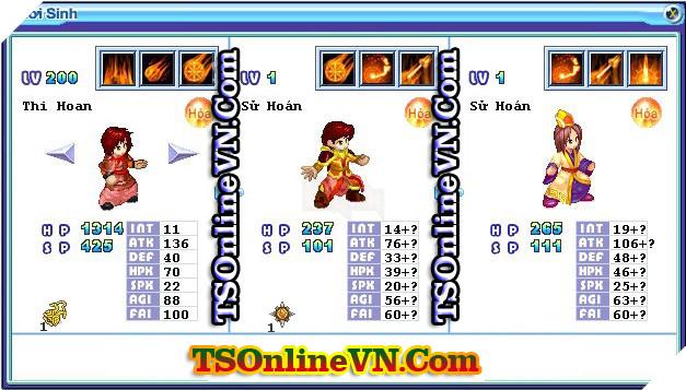 TS Online Mobile: Tổng hợp tất cả Pet Hỏa chuyển sinh 1 và 2 đầy đủ nhất 84