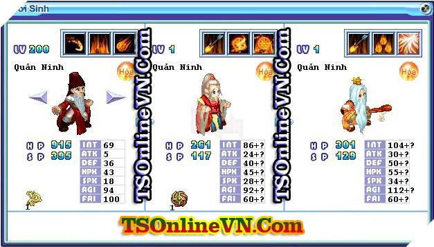 TS Online Mobile: Tổng hợp tất cả Pet Hỏa chuyển sinh 1 và 2 đầy đủ nhất 97