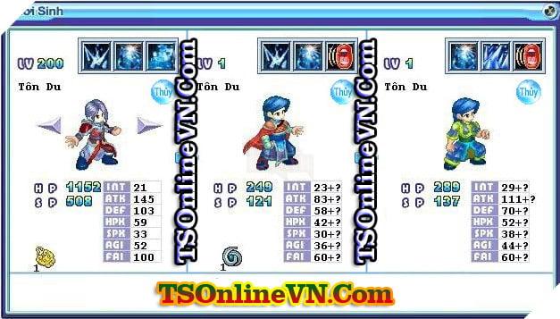 TS Online Mobile: Tổng hợp tất cả Pet Hệ Thủy chuyển sinh 1 và 2 đầy đủ nhất 56
