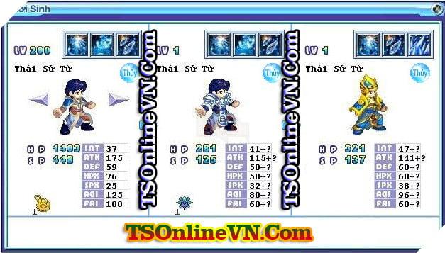 TS Online Mobile: Tổng hợp tất cả Pet Hệ Thủy chuyển sinh 1 và 2 đầy đủ nhất 8