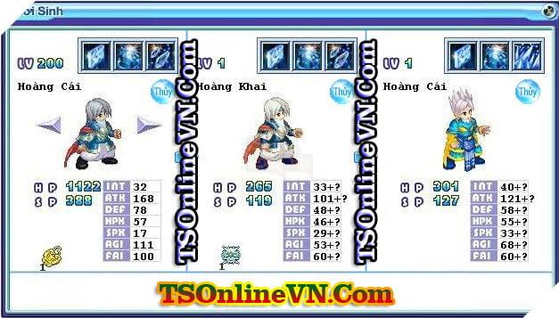 TS Online Mobile: Tổng hợp tất cả Pet Hệ Thủy chuyển sinh 1 và 2 đầy đủ nhất 23
