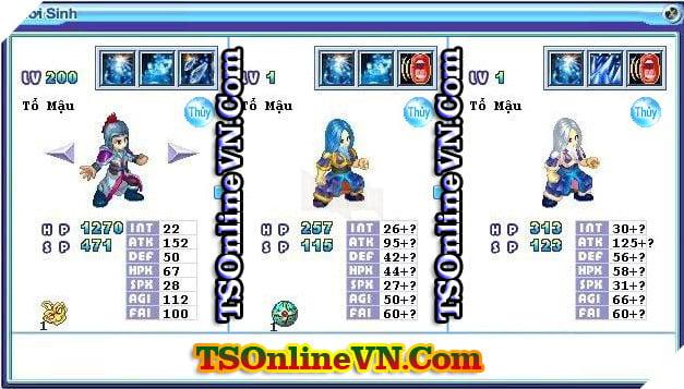 TS Online Mobile: Tổng hợp tất cả Pet Hệ Thủy chuyển sinh 1 và 2 đầy đủ nhất 42