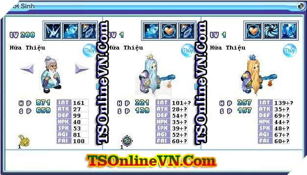TS Online Mobile: Tổng hợp tất cả Pet Hệ Thủy chuyển sinh 1 và 2 đầy đủ nhất 24