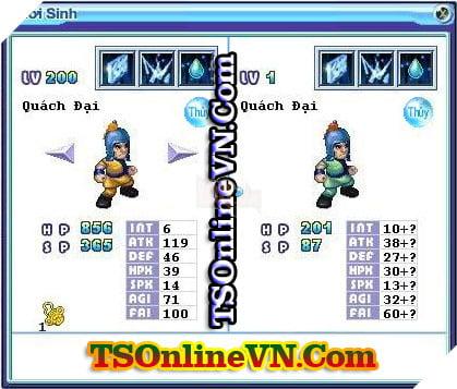 TS Online Mobile: Tổng hợp tất cả Pet Hệ Thủy chuyển sinh 1 và 2 đầy đủ nhất 89