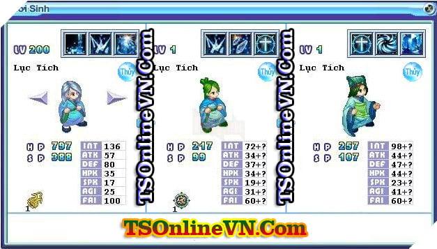 TS Online Mobile: Tổng hợp tất cả Pet Hệ Thủy chuyển sinh 1 và 2 đầy đủ nhất 87