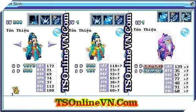 TS Online Mobile: Tổng hợp tất cả Pet Hệ Thủy chuyển sinh 1 và 2 đầy đủ nhất 17