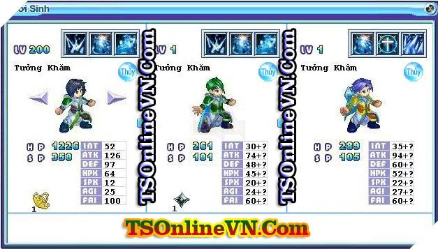 TS Online Mobile: Tổng hợp tất cả Pet Hệ Thủy chuyển sinh 1 và 2 đầy đủ nhất 77