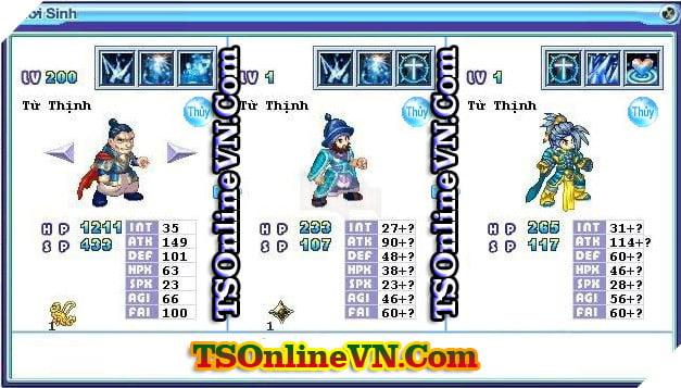 TS Online Mobile: Tổng hợp tất cả Pet Hệ Thủy chuyển sinh 1 và 2 đầy đủ nhất 40