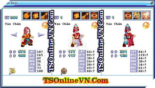 TS Online Mobile: Tổng hợp tất cả Pet Hỏa chuyển sinh 1 và 2 đầy đủ nhất 39