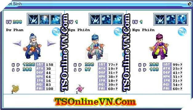 TS Online Mobile: Tổng hợp tất cả Pet Hệ Thủy chuyển sinh 1 và 2 đầy đủ nhất 70