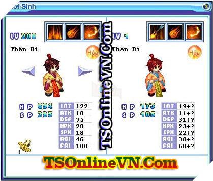 TS Online Mobile: Tổng hợp tất cả Pet Hỏa chuyển sinh 1 và 2 đầy đủ nhất 92
