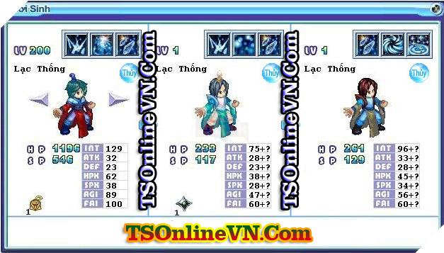 TS Online Mobile: Tổng hợp tất cả Pet Hệ Thủy chuyển sinh 1 và 2 đầy đủ nhất 81