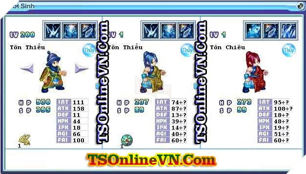 TS Online Mobile: Tổng hợp tất cả Pet Hệ Thủy chuyển sinh 1 và 2 đầy đủ nhất 60