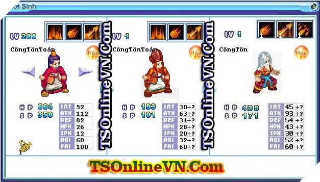 TS Online Mobile: Tổng hợp tất cả Pet Hỏa chuyển sinh 1 và 2 đầy đủ nhất 89