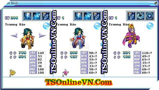 TS Online Mobile: Tổng hợp tất cả Pet Hệ Thủy chuyển sinh 1 và 2 đầy đủ nhất 31
