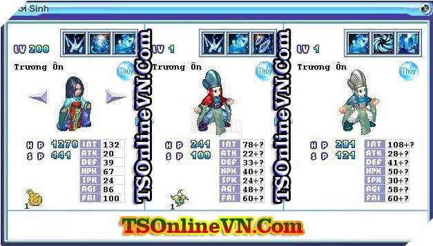TS Online Mobile: Tổng hợp tất cả Pet Hệ Thủy chuyển sinh 1 và 2 đầy đủ nhất 83