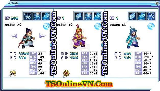 TS Online Mobile: Tổng hợp tất cả Pet Hệ Thủy chuyển sinh 1 và 2 đầy đủ nhất 52