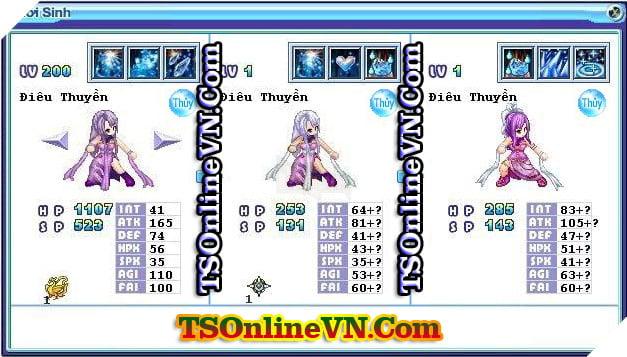 TS Online Mobile: Tổng hợp tất cả Pet Hệ Thủy chuyển sinh 1 và 2 đầy đủ nhất 14