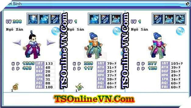 TS Online Mobile: Tổng hợp tất cả Pet Hệ Thủy chuyển sinh 1 và 2 đầy đủ nhất 76