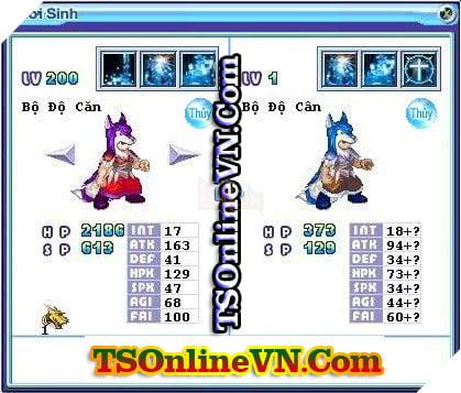 TS Online Mobile: Tổng hợp tất cả Pet Hệ Thủy chuyển sinh 1 và 2 đầy đủ nhất 25