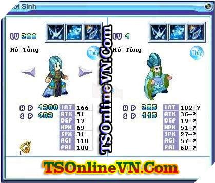TS Online Mobile: Tổng hợp tất cả Pet Hệ Thủy chuyển sinh 1 và 2 đầy đủ nhất 41