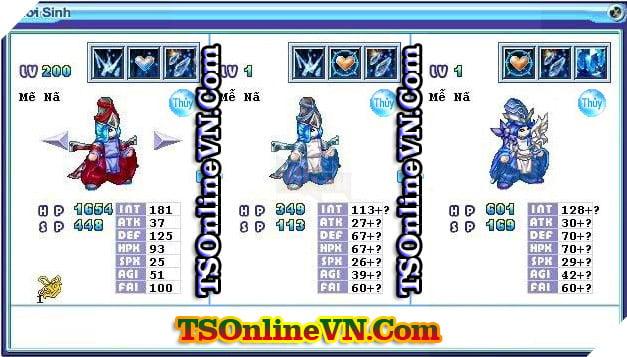 TS Online Mobile: Tổng hợp tất cả Pet Hệ Thủy chuyển sinh 1 và 2 đầy đủ nhất 9