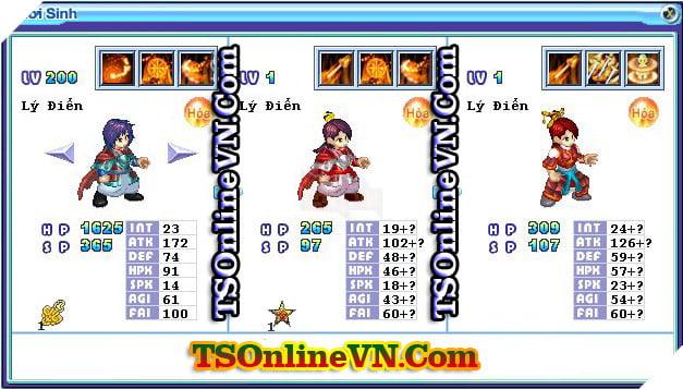 TS Online Mobile: Tổng hợp tất cả Pet Hỏa chuyển sinh 1 và 2 đầy đủ nhất 46
