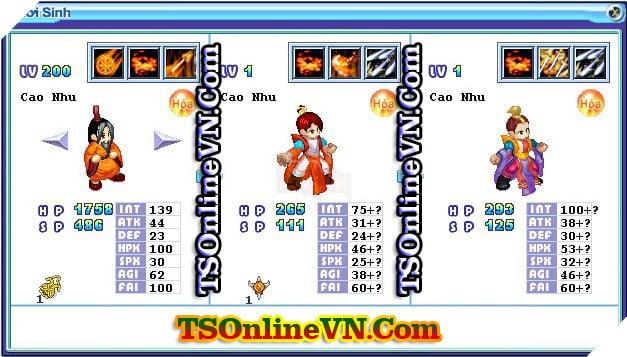 TS Online Mobile: Tổng hợp tất cả Pet Hỏa chuyển sinh 1 và 2 đầy đủ nhất 71