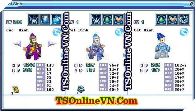 TS Online Mobile: Tổng hợp tất cả Pet Hệ Thủy chuyển sinh 1 và 2 đầy đủ nhất 73