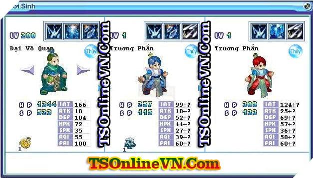 TS Online Mobile: Tổng hợp tất cả Pet Hệ Thủy chuyển sinh 1 và 2 đầy đủ nhất 34